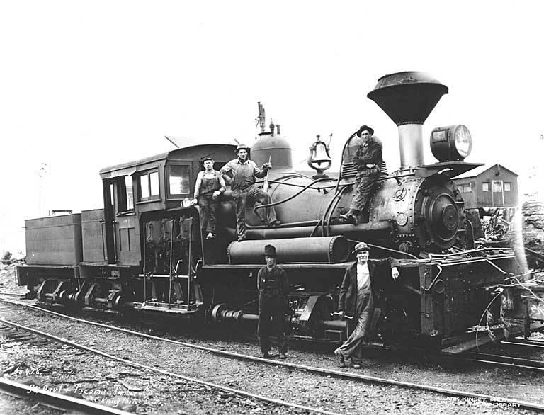 File St Paul And Tacoma Lumber Company S Three Truck Shay Locomotive No 4
