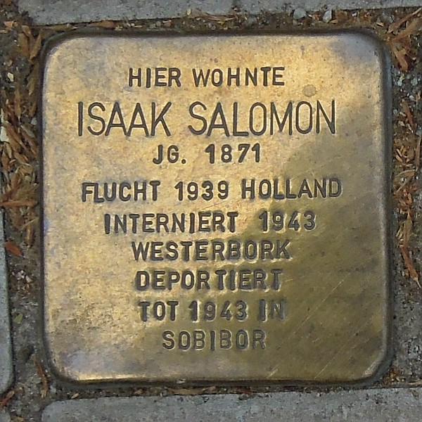 Stolperstein für Isak Salomon