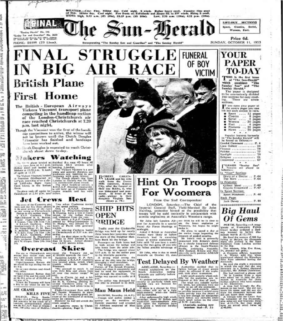 File:Sun-Herald 11 October 1953 jpg - Wikimedia Commons
