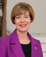 Portrait officiel de Tammy Baldwin.