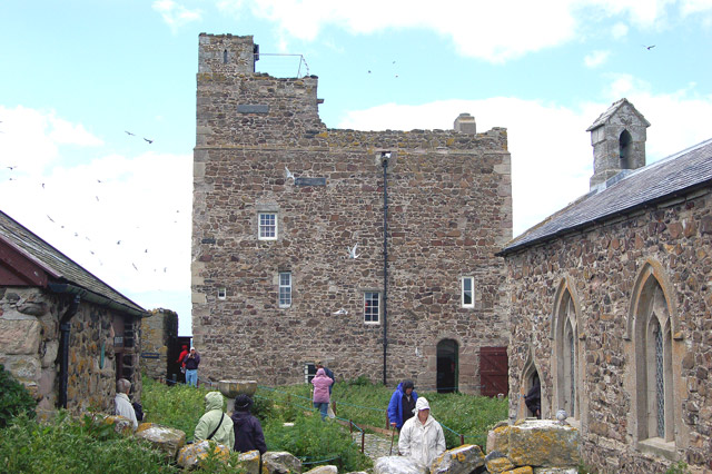 The courtyard below the tower on Inner Farne - geograph.org.uk - 1379339