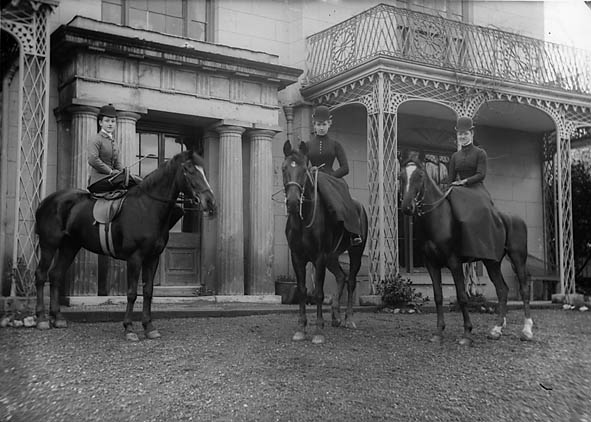 Three women on horseback