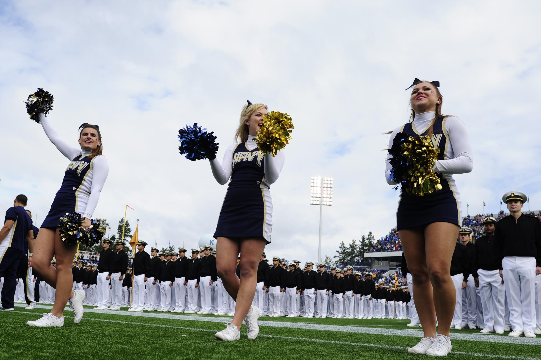 File:U.S. Naval Academy cheerleaders root for their team ...