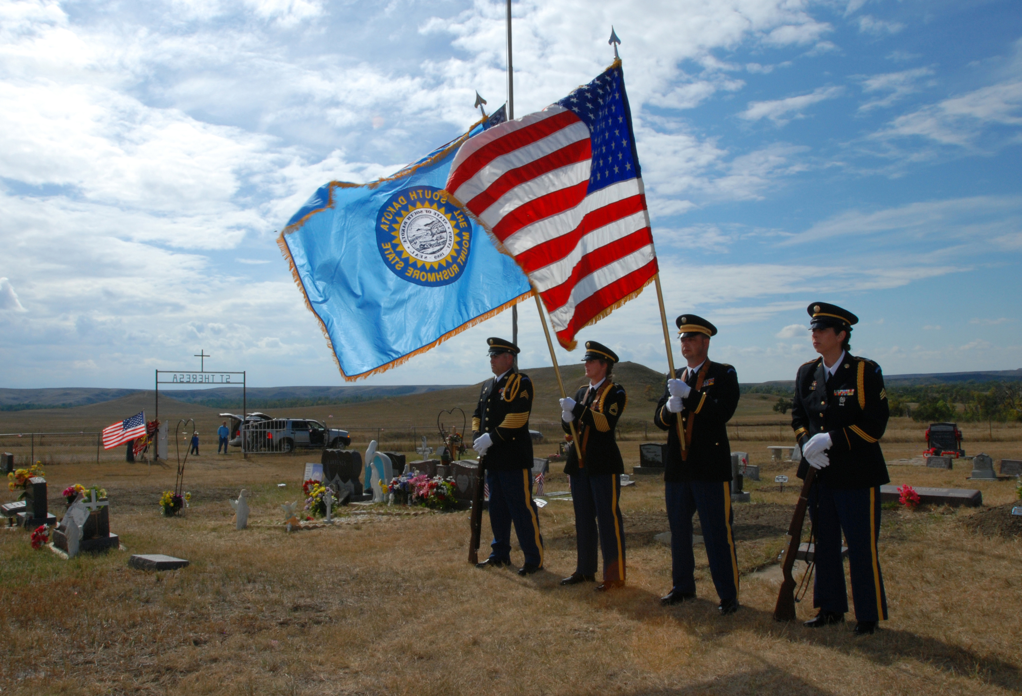 File:US Army 52445 Military Funeral Honors color guard jpg