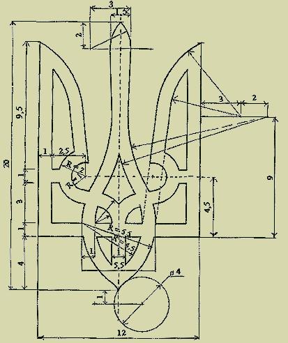 схема монохромной вышивки крестом
