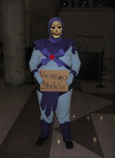 Auch Skeletor mag Zwangskurse für Arbeitlose nicht