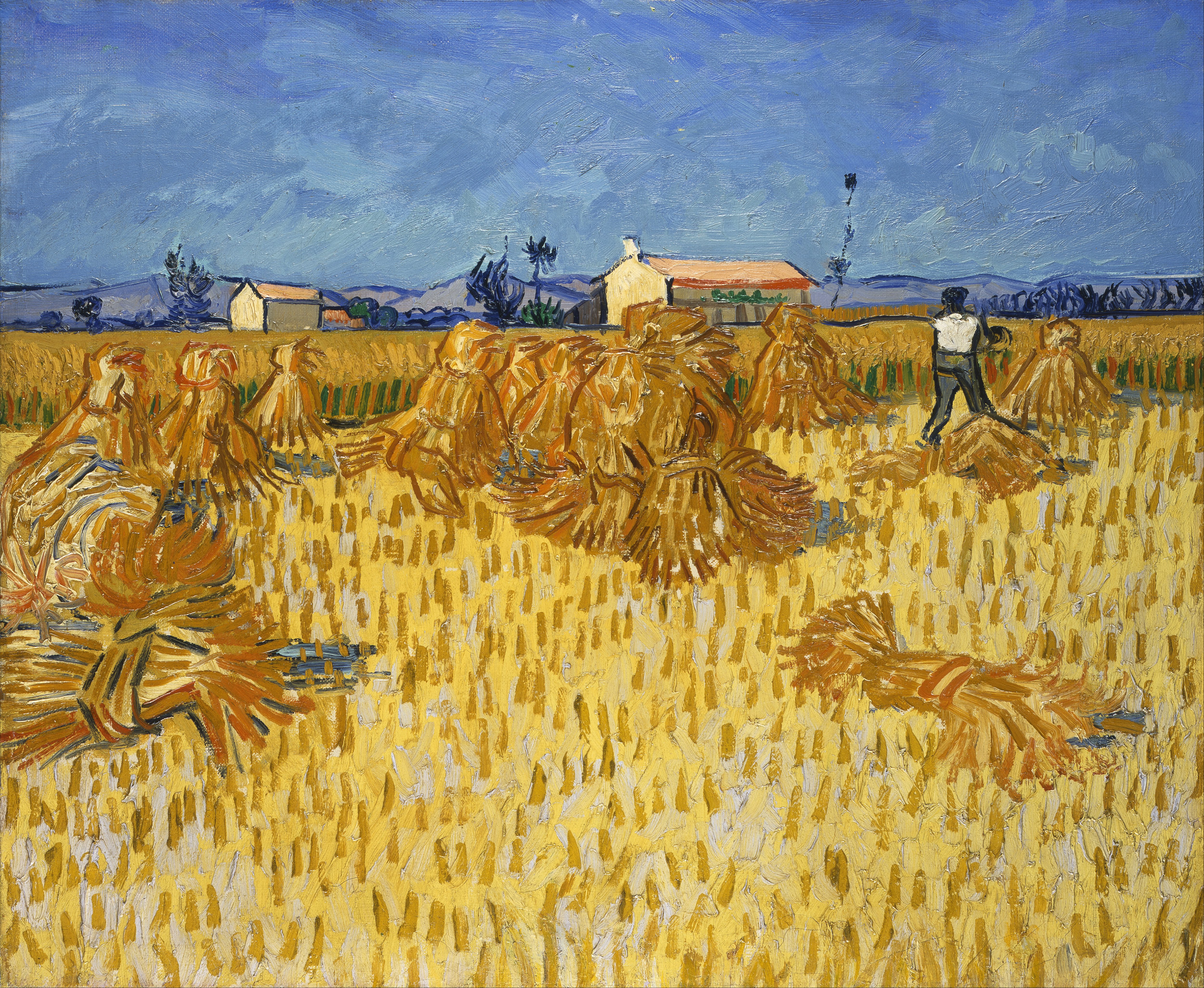 File Vincent Van Gogh Corn Harvest in Provence Google Art Project Wikimedia mons