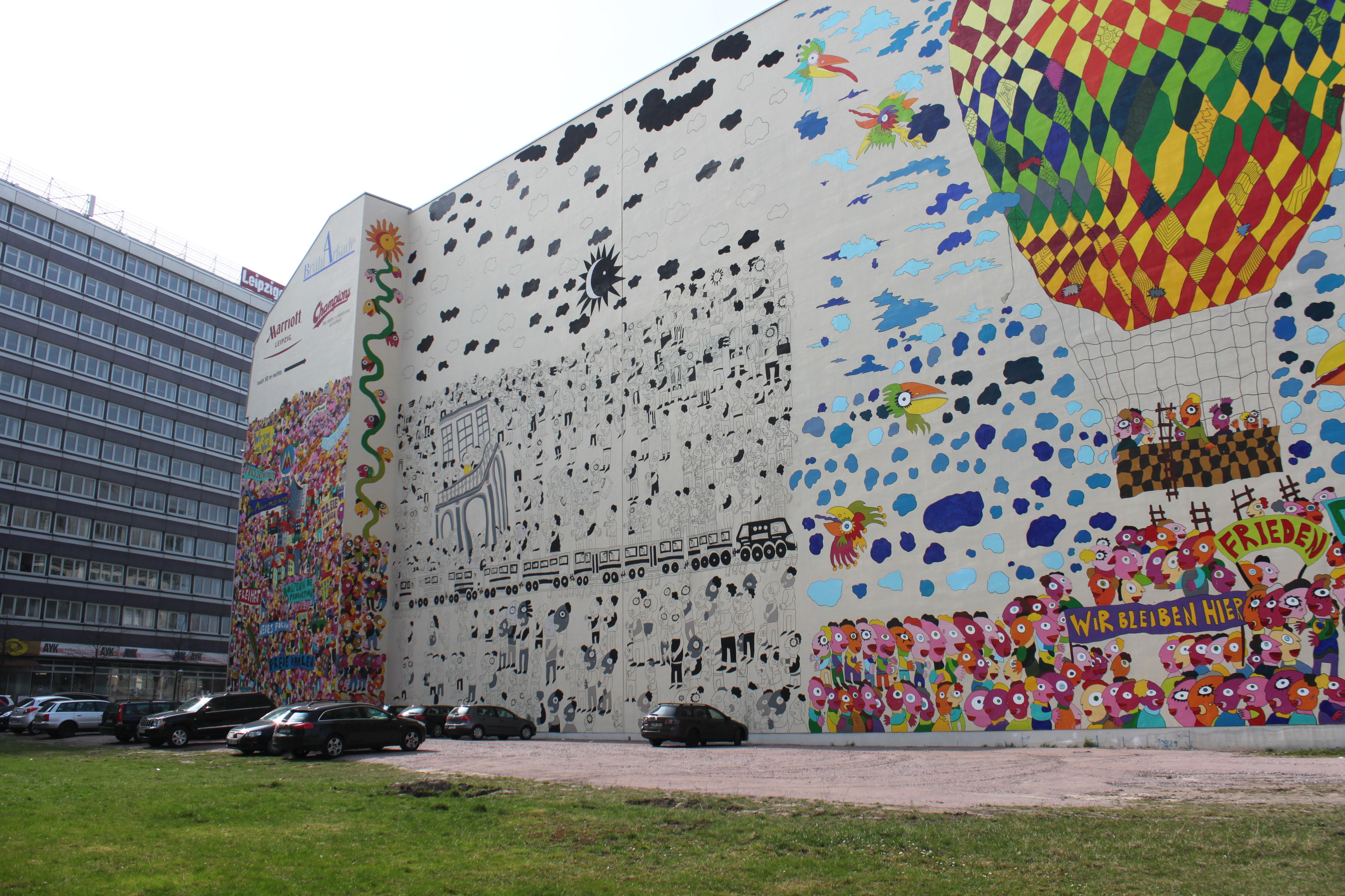 filewandbemalung an der auenfassade der brhlarkaden 5jpg - Wandbemalung
