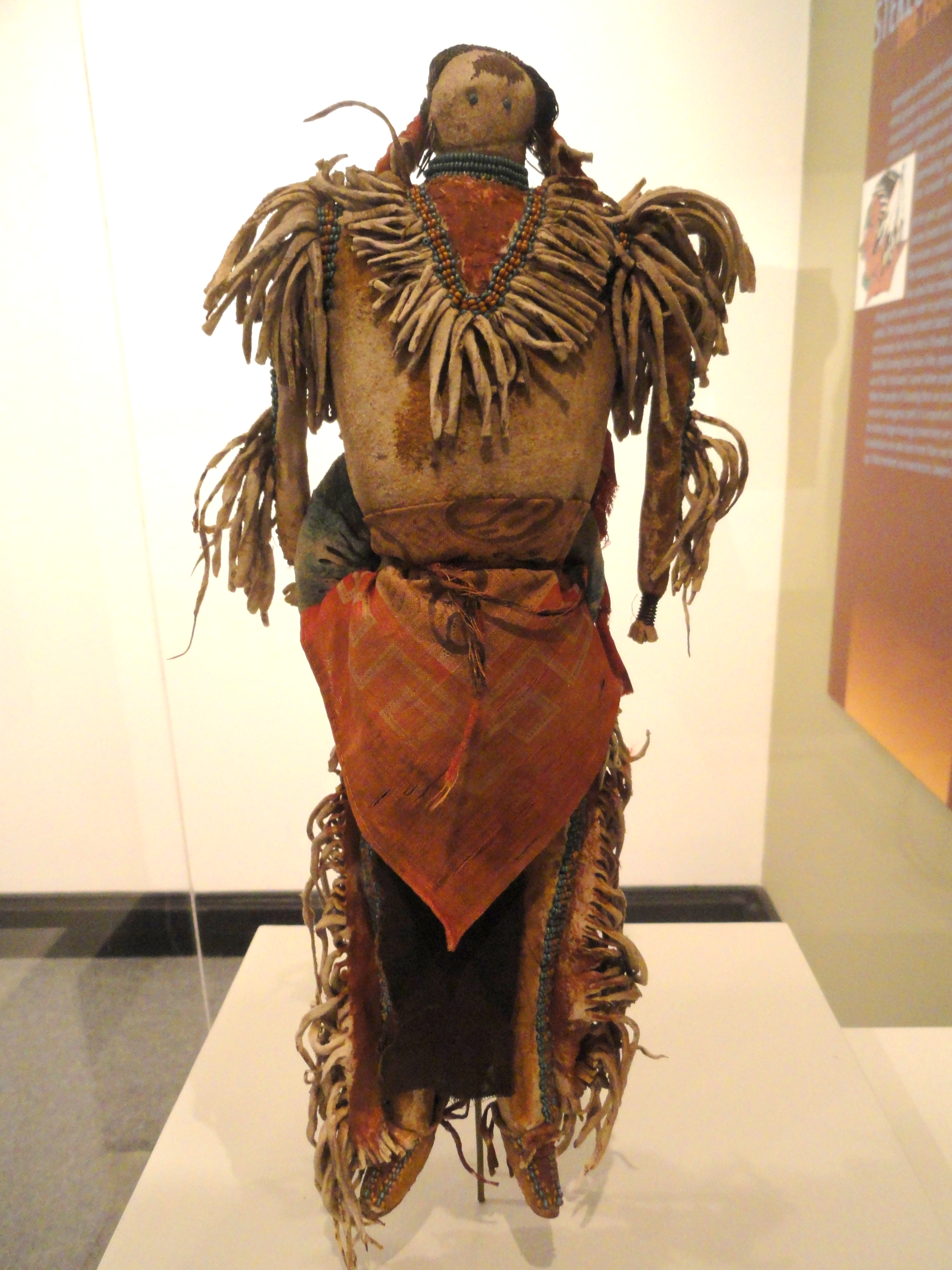 File:Warrior doll, with symbols of Lakota religion ...
