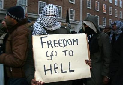 """Freedom go to hell"""