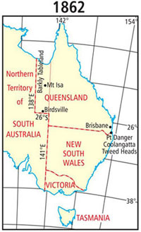 Map Of Australia 26th Parallel.Queensland Borders Wikipedia