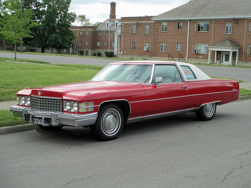 File 1974 Cadillac Coupe Deville Red Jpg Wikimedia Commons