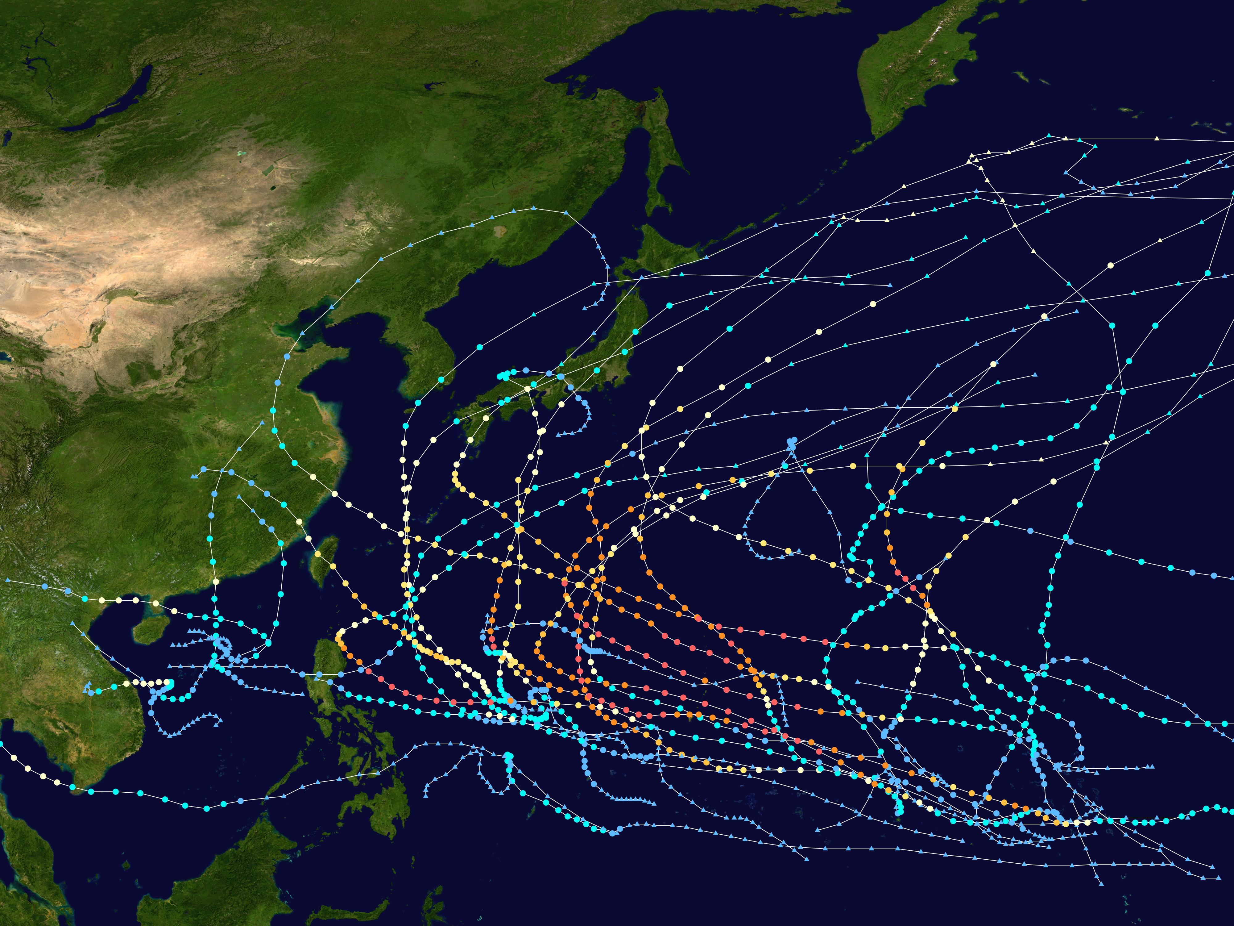 1997 Pacific Typhoon Season Wikipedia