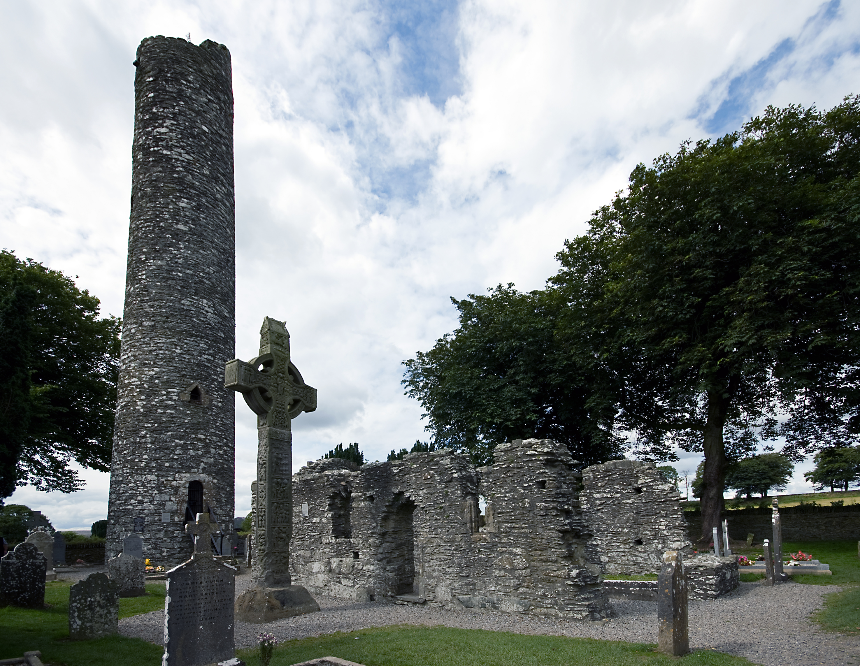 Monasterboice Church and Tower, and Muiredach's High Cross