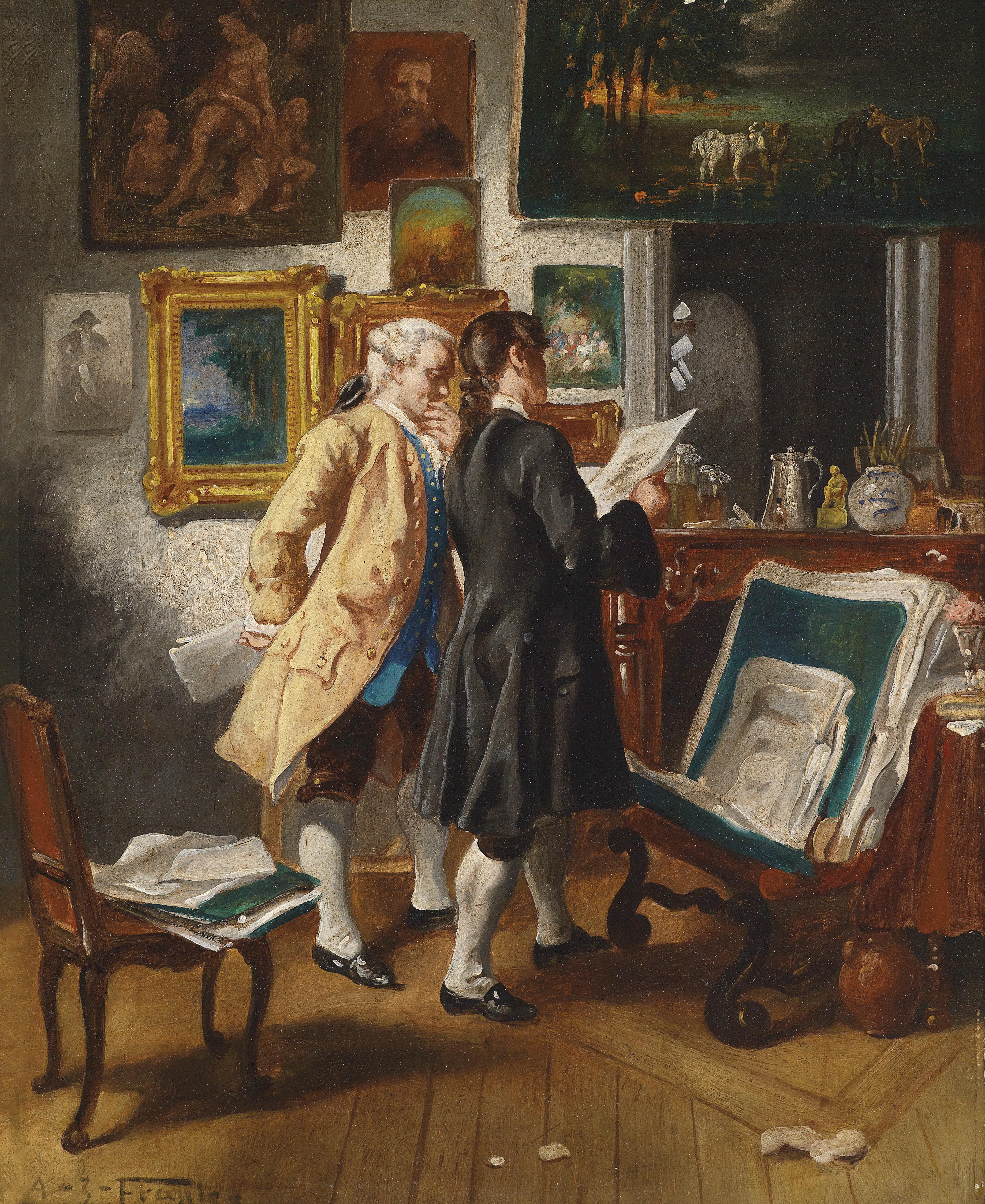 File:Albert Josef Franke Beim Antiquit?tenh?ndler.jpg - Wikimedia ...