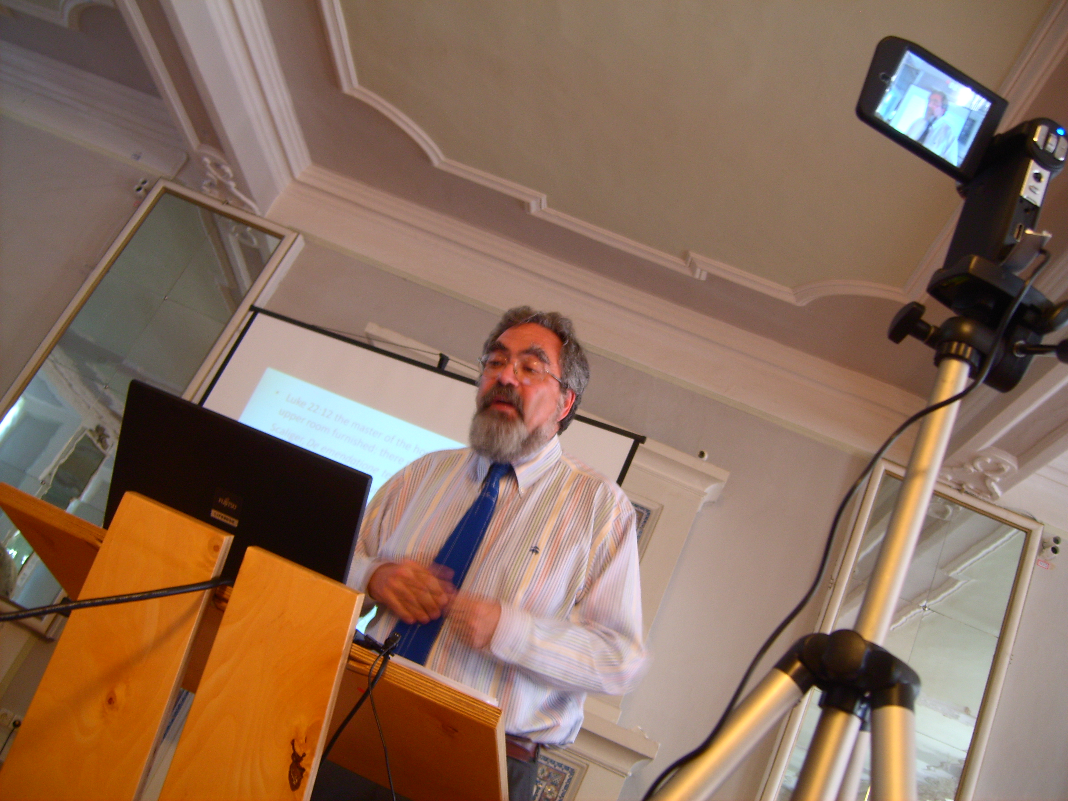 Grafton lecturing at the Gotha Research Center in 2010