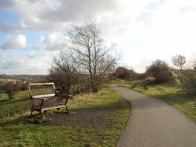 Artistic seat, Spen Valley Greenway, Liversedge - geograph.org.uk - 104755
