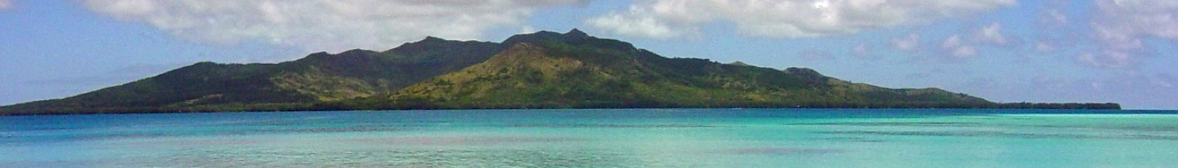 View of Tubuai from a small island