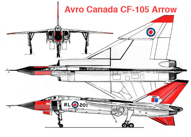 Avro CF-105 Arrow 3-view