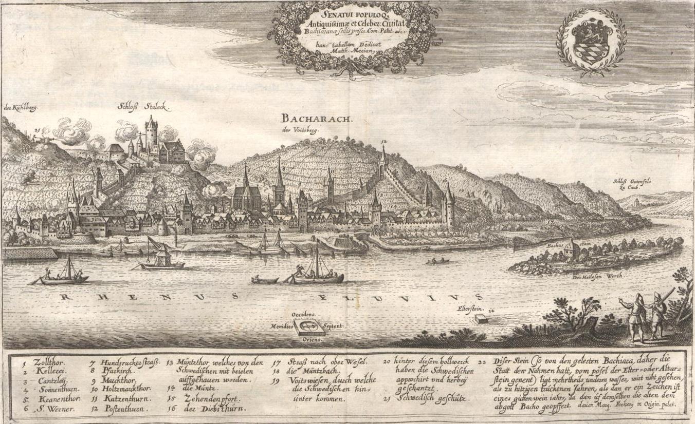 Merian Ansicht von Bacharach