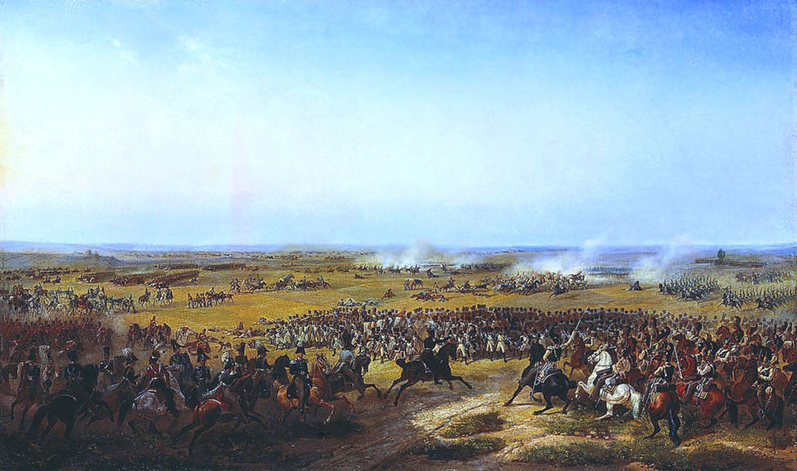 Сражение при Фер-Шампенуазе. В.Тимм, 1839