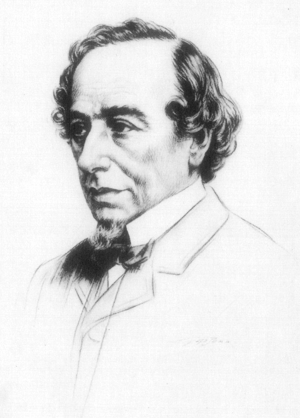Line drawing of Disraeli