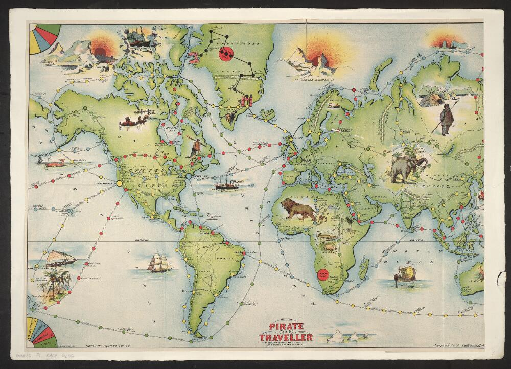 Pirate World Map.File Bodleian Libraries Pirate And Traveller Child S Instructive