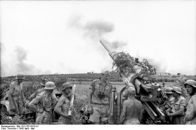 German artillery in North Africa