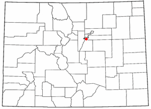 Location of Southglenn, Colorado