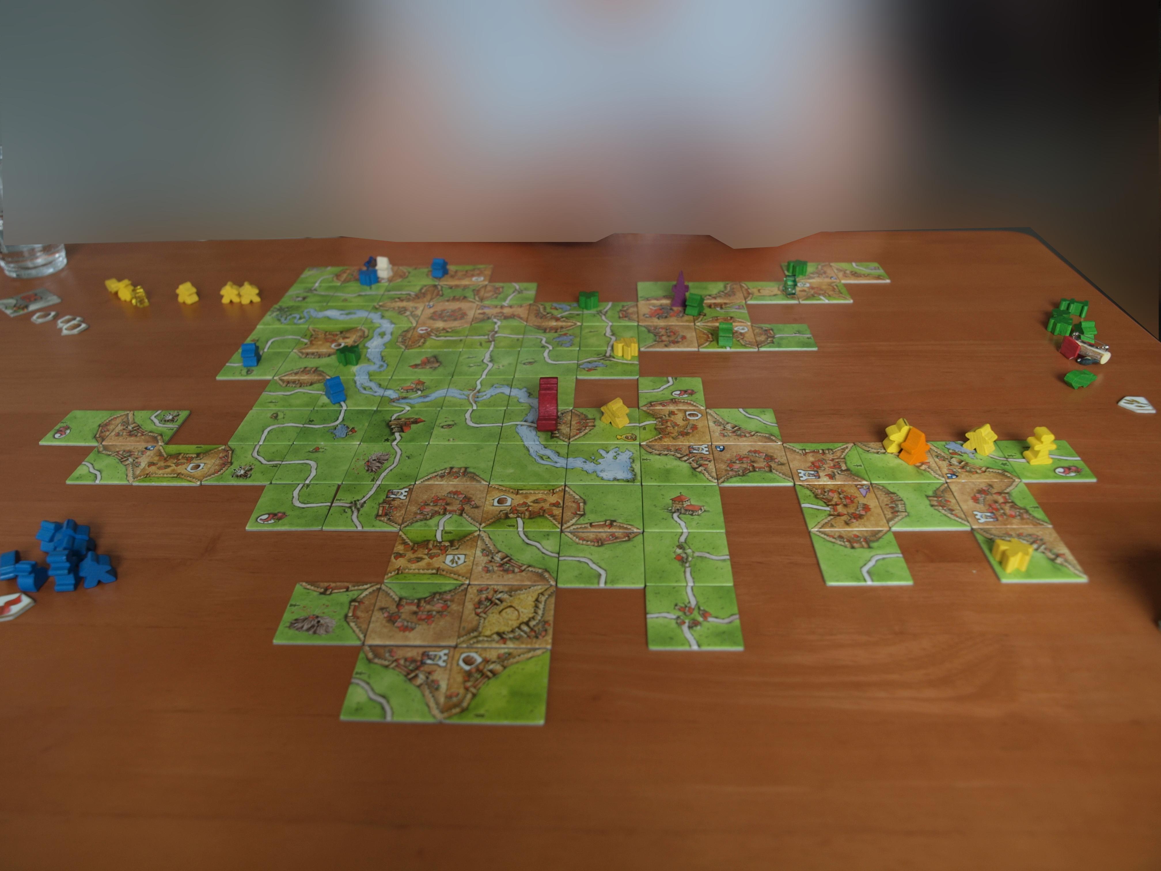 FARBWAHL 1,2,5,10 Stk Holz Männchen Carcassonne  ERSATZ Meeple Spielfiguren