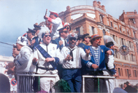 A chorus singing in the Carnival of Cádiz