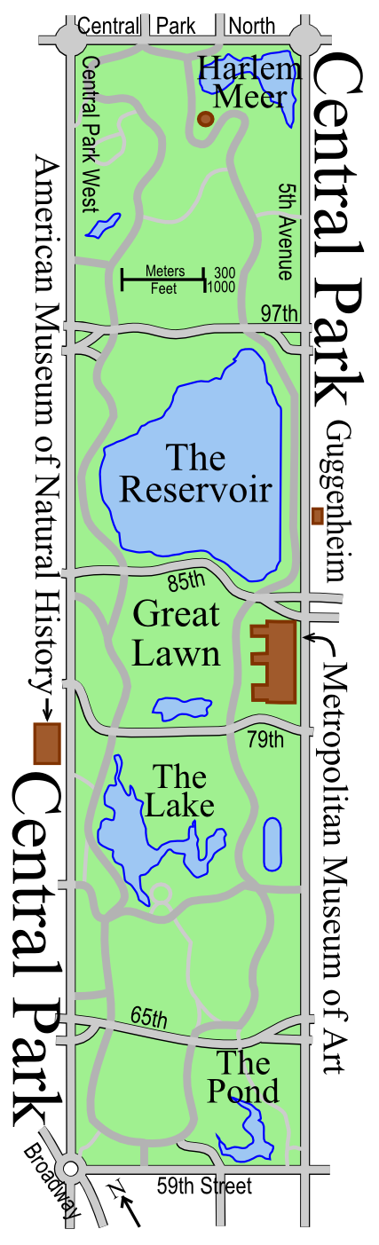План-схема Центрального Парка