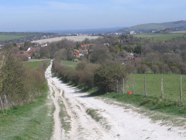 Chalky bridleway, Kingston (Lewes) - geograph.org.uk - 393445