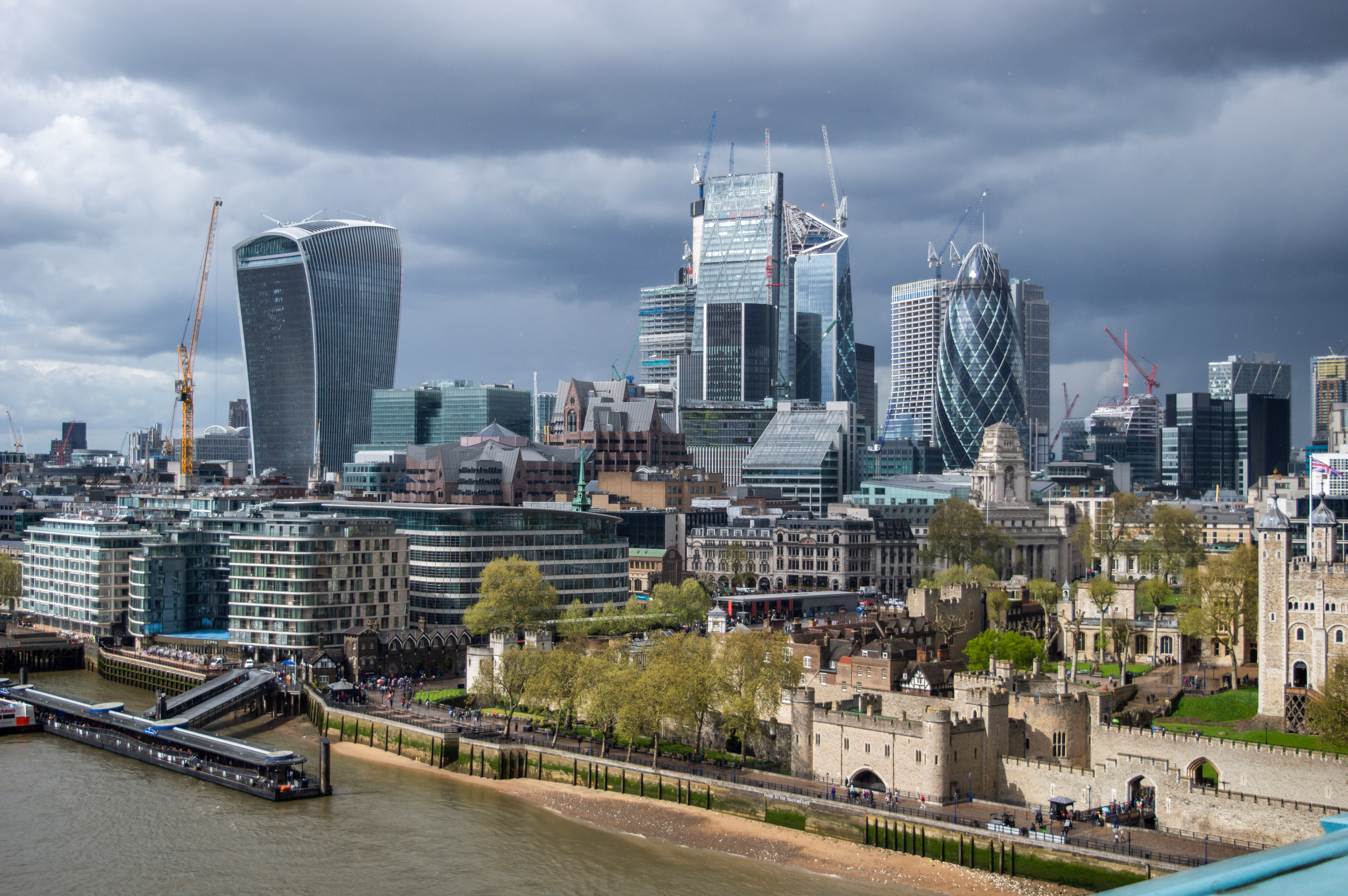 City of London seen from Tower Bridge