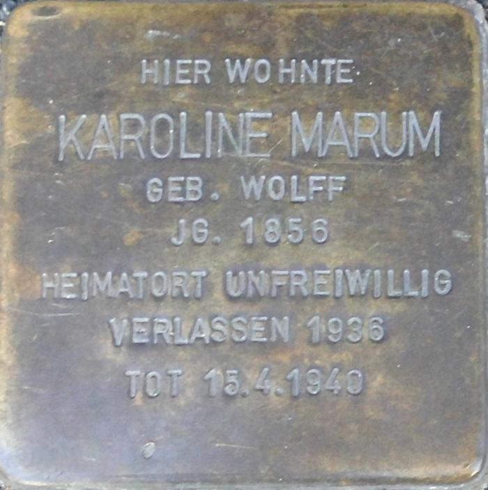Deidesheim Stolperstein Karoline Marum.png