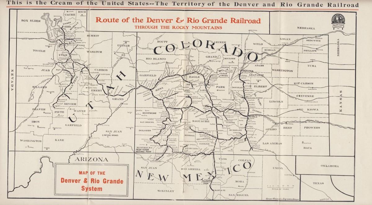 denver and rio grande western railroad map File Denver Rio Grande Map 1909 Jpg Wikimedia Commons denver and rio grande western railroad map