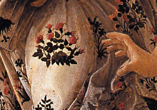 Detail of Flora's skirt