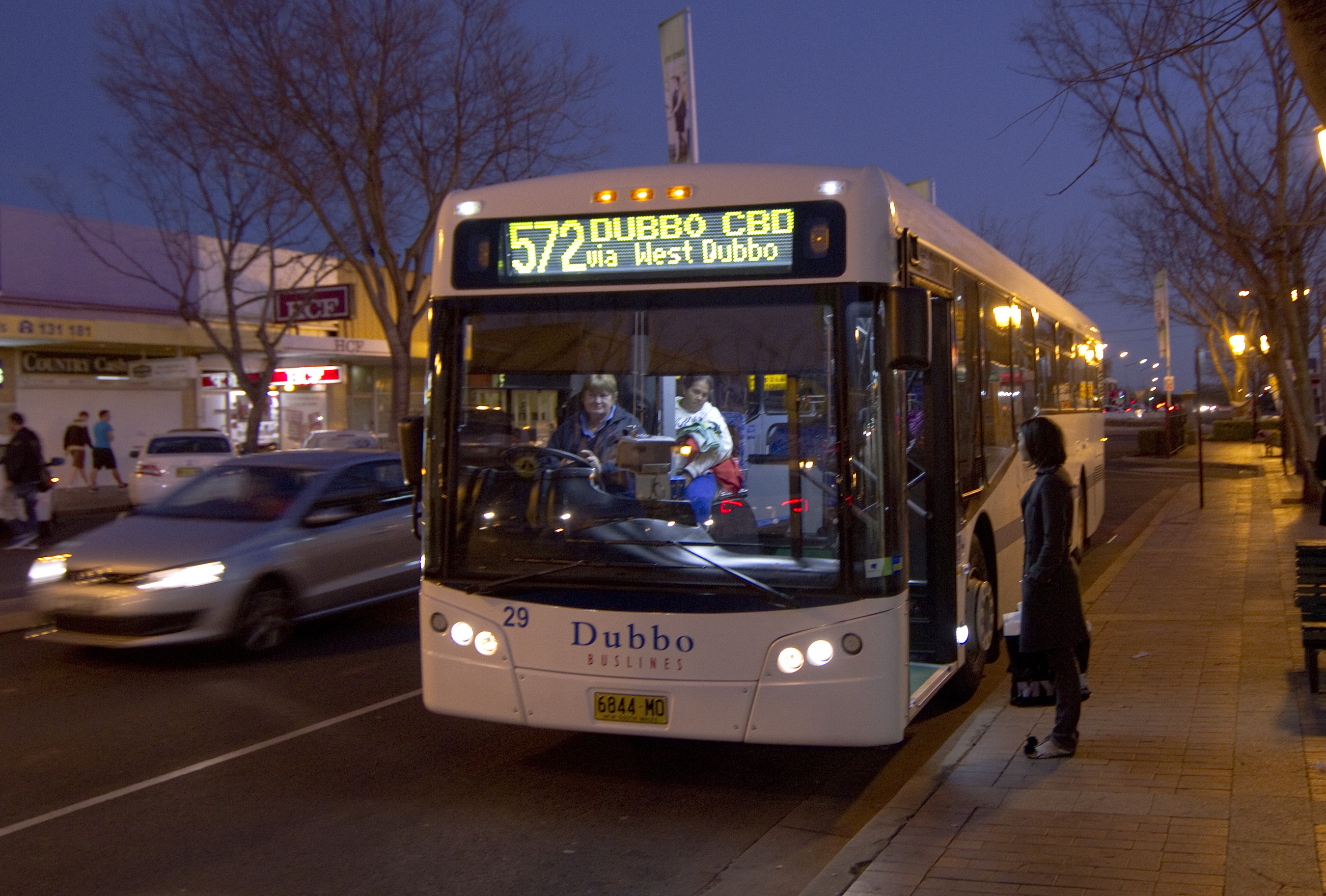 Dubbo Australia  city photos gallery : Dubbo buslines bus route 572 at Dubbo CBD, NSW, Australia