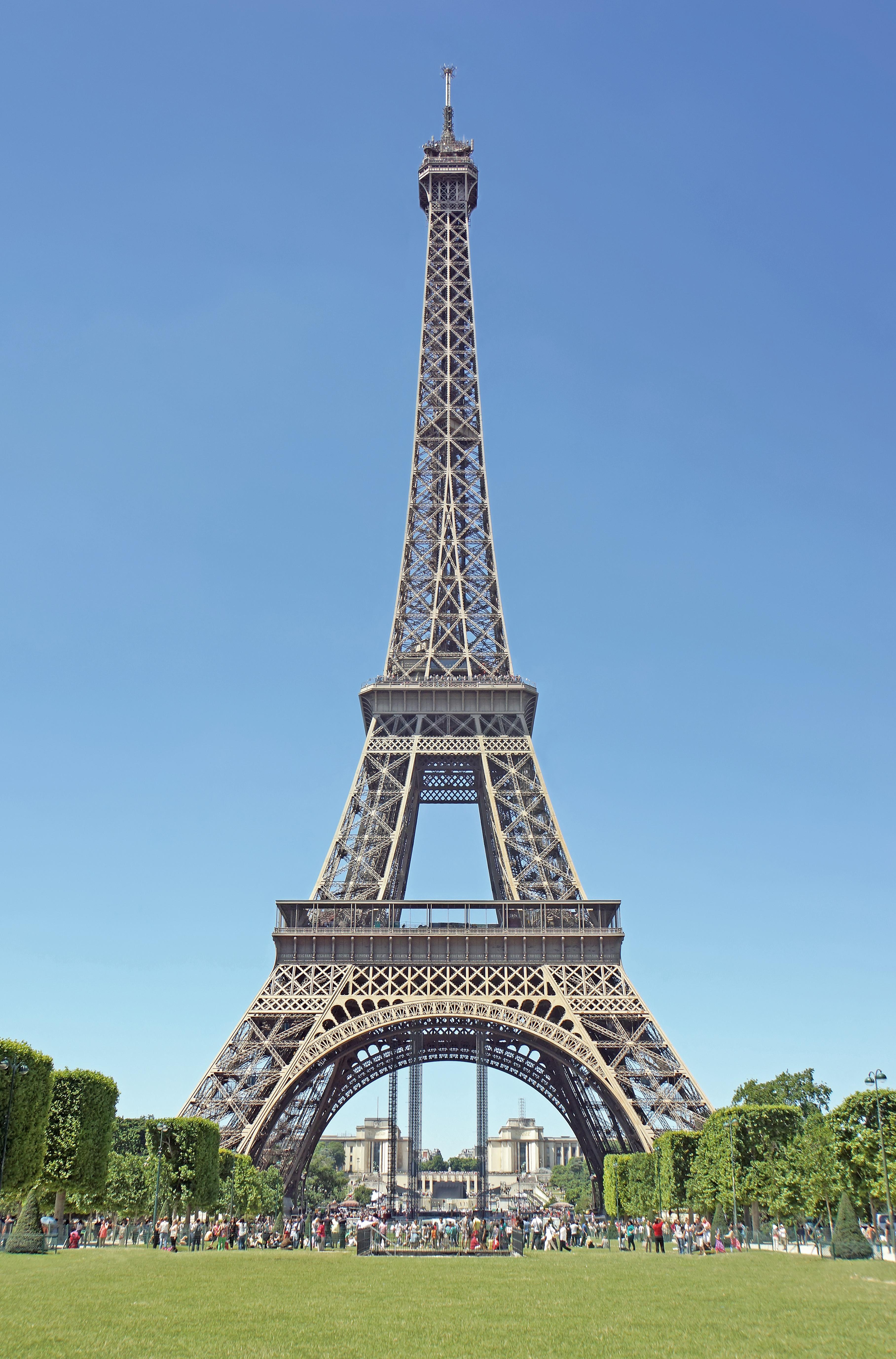 File Eiffel Tower From Champ De Mars Paris 2014 Jpg