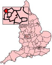 Wolverhampton shown within England