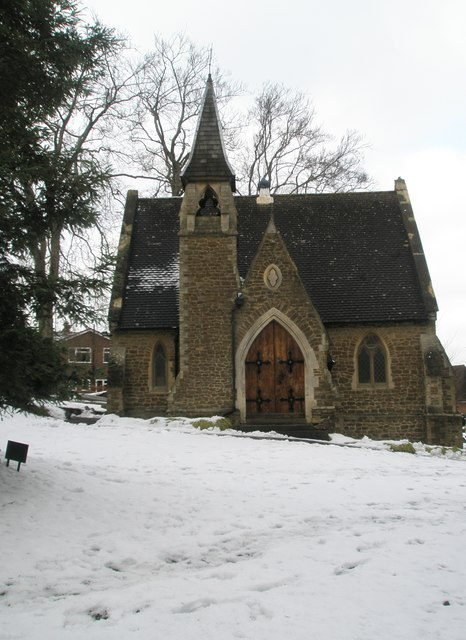 English Country Church in the snow