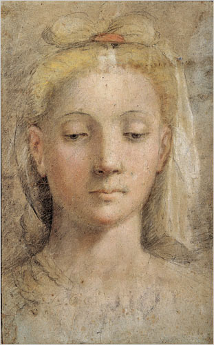 File:Federico Barocci - drawing of a woman's head.jpg
