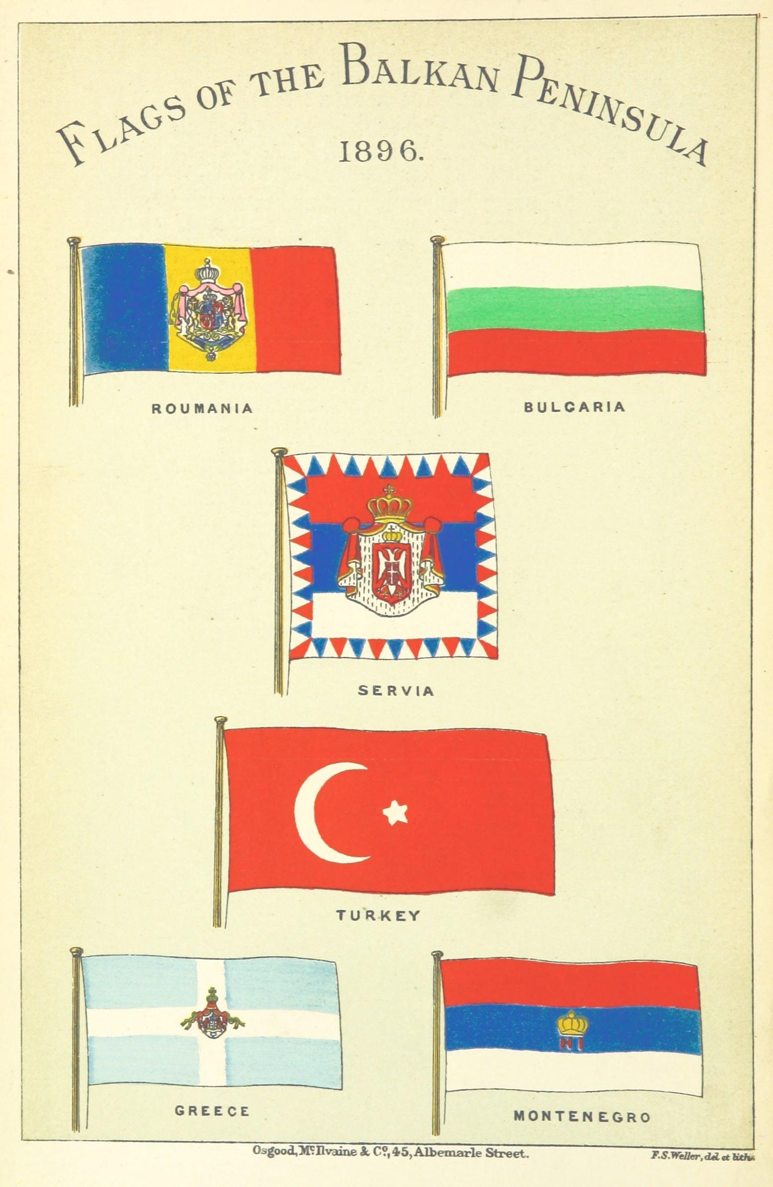 Flags of the Balkan Peninsula 1896 : vexillology