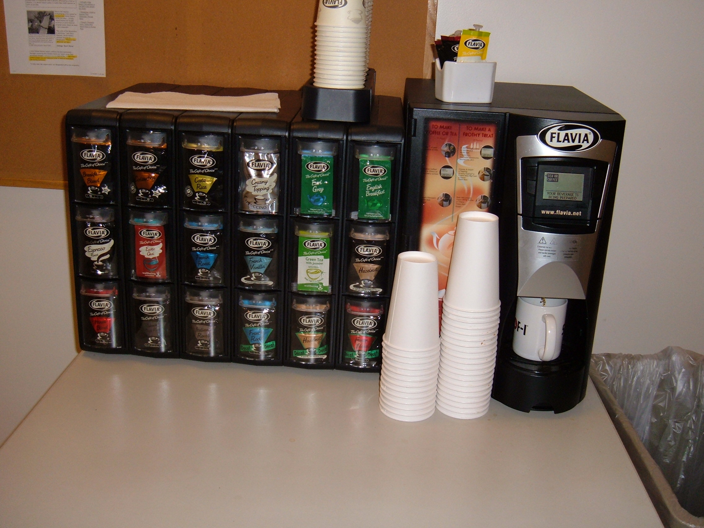 coffee machine with packets