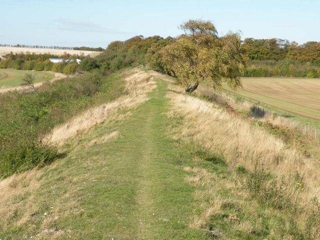 Fleam Dyke looking NW - geograph.org.uk - 1017317