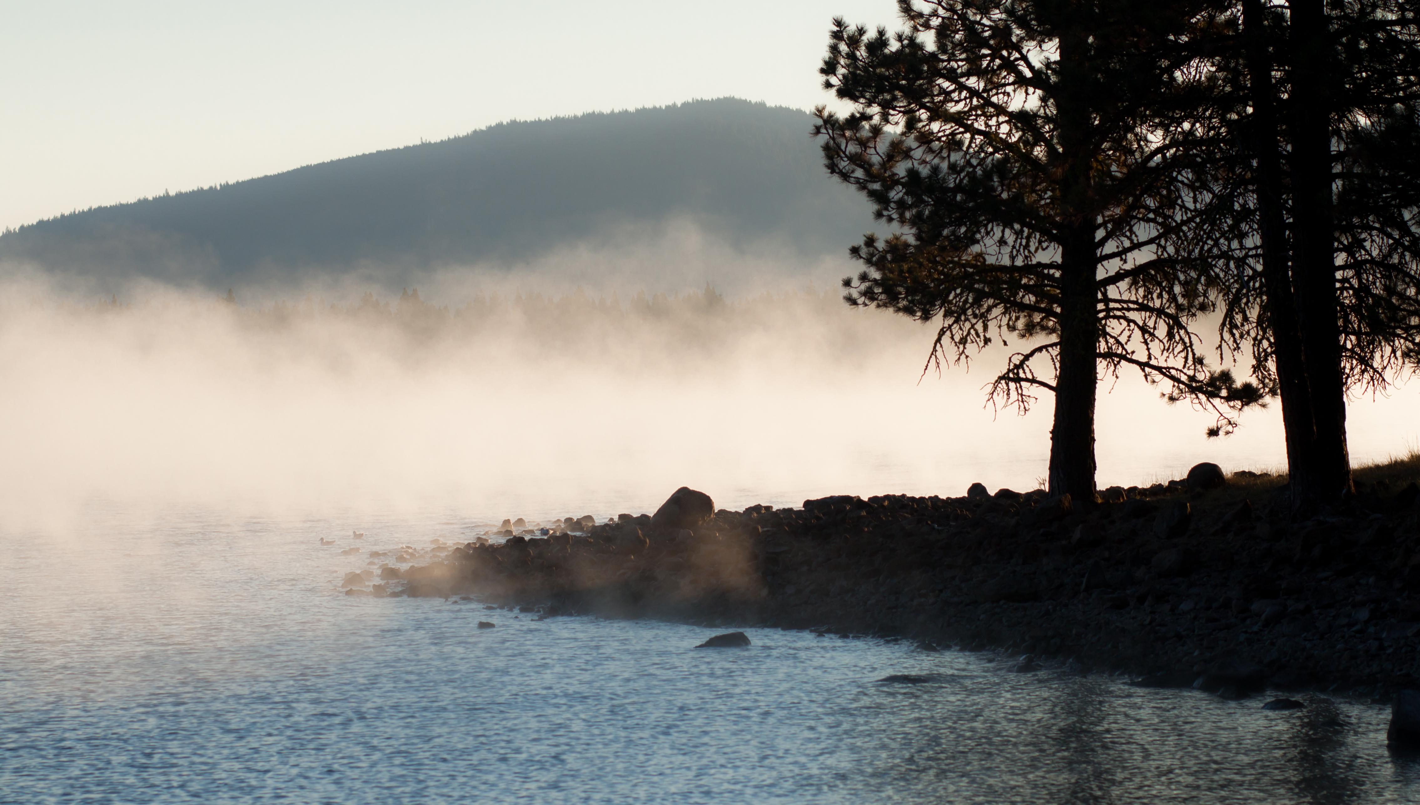 Image result for fog over lake