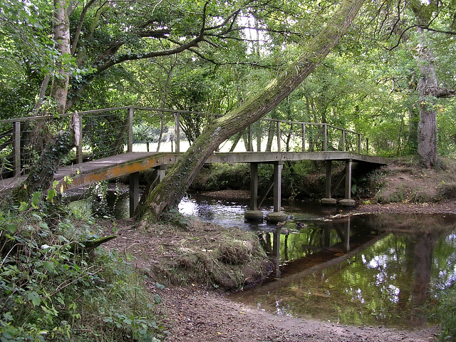North Point Ford >> File:Footbridge and ford over the Lymington River, Roydon Manor, New Forest - geograph.org.uk ...