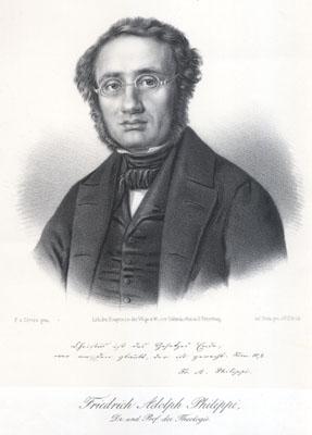 Friedrich Adolf Philippi, portrait by W. Ullrich