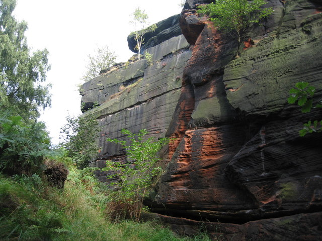 Frog's Mouth Quarry, Runcorn Hill - geograph.org.uk - 598352