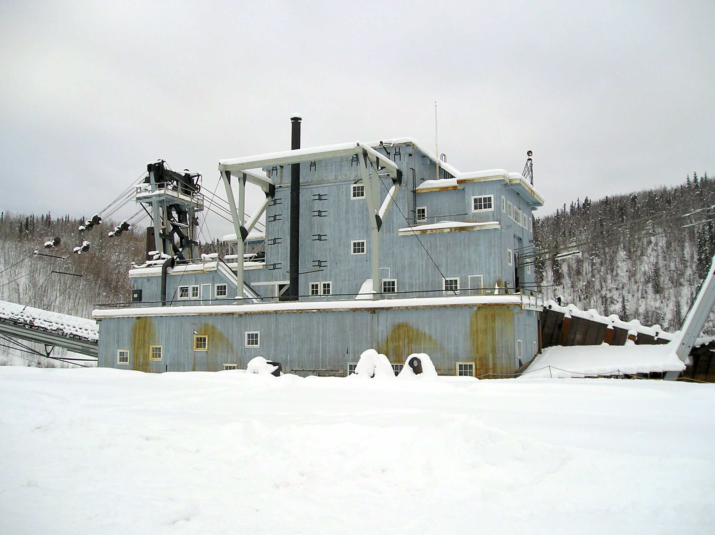 Dawson City (YT) Canada  city photo : Gold dredger Dawson City YT Wikipedia, the free ...